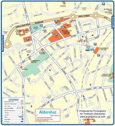 Map of Aldershot created in 2011 for Thomson Directories. One of approximately 350 UK town and city maps produced royalty free. Find out more... http://www.pcgraphics.uk.com or read our blog... http://www.pcgraphics.uk.com/blog/