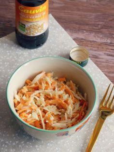 Coleslaw au sésame Coleslaw, Salad Recipes, Healthy Recipes, Sesame, Macaroni And Cheese, Salads, Veggies, Nutrition, Vegan