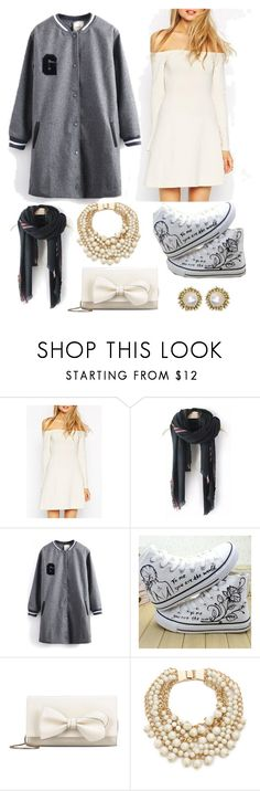 """""""Geen titel #355"""" by pqlq ❤ liked on Polyvore featuring WithChic, HVBAO, RED Valentino, Kate Spade and Kendra Scott"""
