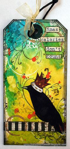 kathryn wheel's art journal. This is exactly what I think as I eat all those Xmas goodies.