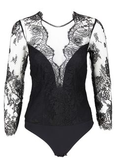 Christies Black Couture Long-sleeved Body suit from Graziashop.com!