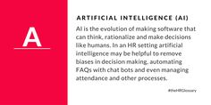 Tydy's HR Glossary - Artificial Intelligence (AI)
