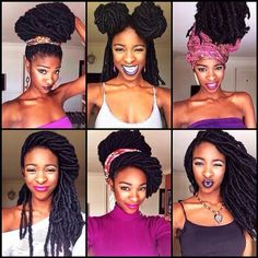 IG: yomilewa Just a few of the hairstyles I've attempted with my Marley Locs... Shout out to @gwanloc for inspiring some of these. #marleylocs#fauxlocs#marleyupdo#locstyles#excusemyfaces http://instagram.com/p/kGM8RItz0g/
