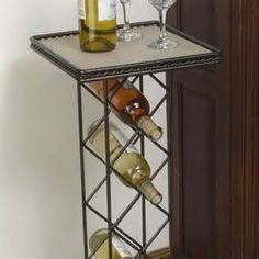 dining table with wine rack wire wine rack with tile table top set of  walmartcom