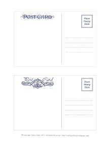 Postcard Templates Free Downloads Of Eps Or Psd Wedding - Postcard template free download