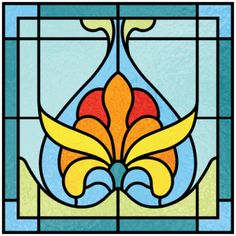 Examples of Art Deco Stained Glass Designs, Stained Glass Panels, Stained Glass Patterns, Stained Glass Art, Art Deco Stil, Art Deco Home, Gothic, Laser Art, Examples Of Art