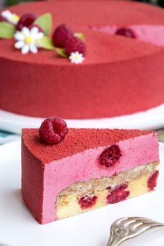 La recette de l'entremets framboise You are in the right place about peanut butter Desserts Here we Raspberry Desserts, Fancy Desserts, Delicious Desserts, Strawberry Mousse, Cupcake Recipes, Baking Recipes, Dessert Recipes, Healthy Recipes, Mini Cakes