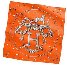 Hermes scarf...in orange, of course...I have a pink and burgundy one, but orange is a love at the moment...