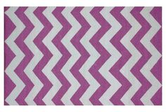 Leigh Flat-Weave Rug, Orchid
