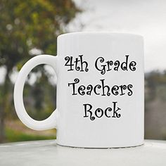 4th Fourth Grade Teachers Rock cute funny 11oz ceramic coffee mug cup JS Artworks http://www.amazon.com/dp/B00N4W2DTM/ref=cm_sw_r_pi_dp_9hjeub04W5XAN