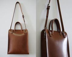 This sleek leather tote couples a minimal aesthetic with a hint of vintage charm, the perfect accessory for a male wearer, or female wearer. Crafted rich bridle leather, the finish is supple yet durable, perfect for everyday wear. Featuring one main compartments, and a removable leather