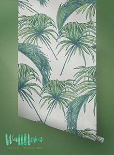 Tropical Pattern Wallpaper - Exotic Removable Wallpaper - Palm Leaves Wallpaper - Wall Sticker - Tropical Palm Leaves Self Adhesive Wallpaper Vinyl Wallpaper, Palm Leaf Wallpaper, Washable Wallpaper, Tropical Wallpaper, Self Adhesive Wallpaper, Adhesive Vinyl, Pattern Wallpaper, Kitchen Wallpaper, Iphone Wallpaper
