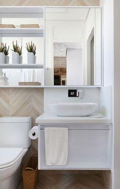 Bathroom Wall Storage, Wall Storage Cabinets, Bathroom Storage Solutions, Bathroom Cabinets, Bathroom Vanities, Cleaning Solutions, Bathroom Colors, White Bathroom, Modern Bathroom