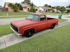 Just bought her 82 C10 Low and shaved. - The 1947 - Present Chevrolet & GMC Truck Message Board Network