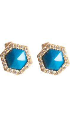 Monique Péan Opalina & White Diamond Waterfall Stud Earrings