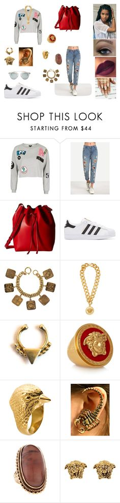 """&"" by ohbabyimrachel ❤ liked on Polyvore featuring Topshop, Gabriella Rocha, adidas Originals, Chanel, Versace, Forever 21, 21dgrs, Stephen Dweck and Christian Dior"
