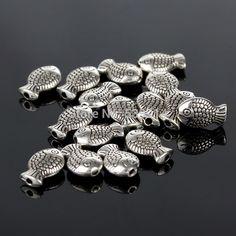 Barato Grátis frete 7 x 10 MM peixe antigo tibetano prata Spacer Beads DIY Beads Jewelry Making contas europeus Chunky 100 pçs/lote, Compro Qualidade Adornos diretamente de fornecedores da China:                   Vinda a minha loja !!!                      Material: Metal