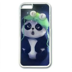 "Picture of Cute Panda Case for iPhone 6 Plus (5.5"") PC Material Transparent"