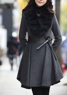 2-color style cape Wool Cashmere coat cotton coat winter coat cloak cape with faux fur collar  C124 on Etsy, $69.00  Ships from china. I like the one w/o faux fur