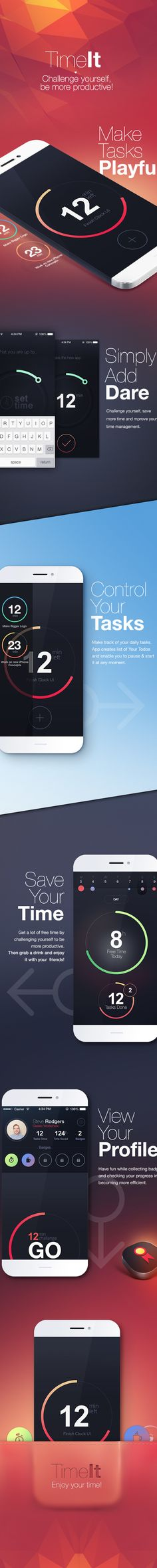 TimeIt - Challange Yourself by Michał Sambora, via Behance