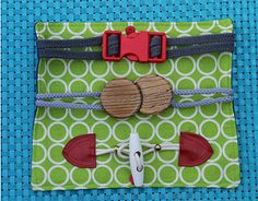 Big Buckles Quiet Book Pattern | AllFreeSewing.com
