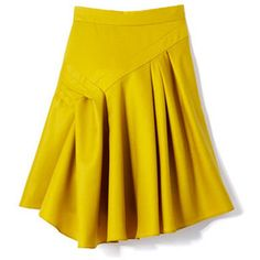 Nicole Miller- Marie Claire featuring polyvore fashion clothing skirts bottoms yellow yellow skirt nicole miller