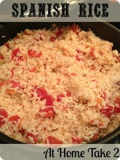 One-Pot Spanish Rice- fast and easy.  I used homemade chicken stock and cooked everything in one pot and it was fabulous! #recipe #spanish #rice