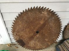"LARGE ANTIQUE 24 3/4"" BUZZ SAW BLADE SAW MILL LOGGING PRIMITIVE RUSTIC CABIN #Country #Unknown"