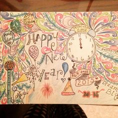 Happy new year drawing!