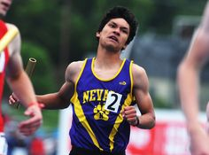 Nevada's anchor Runner Joven Nelson finishes the class 3A boys sprint madley relay in the Iowa State High School Co-ed Track & Field championship at Drake Stadium Saturday, May 20, 2017, in Des Moines, Iowa. Photo by NIrmalendu Majumdar/Ames Tribune http://www.amestrib.com/sports/20170521/state-track-carly-rahn-ends-gilbert-career-with-bronze-in-800