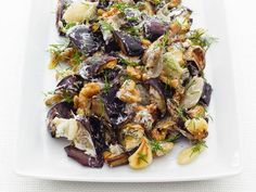 Get Food Network Kitchen's Eggplant with Yogurt and Dill Recipe from Food Network