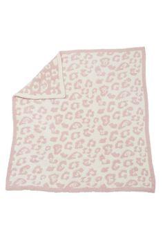 Barefoot Dreams In The Wild Leopard Dusty Rose/Cream Baby Blanket