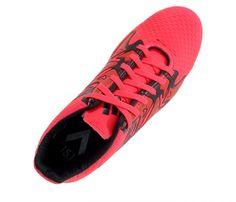 Chuteira Futsal Adidas X 15.4 Vermelho e Preto - Cabedal confeccionado em material sintético. Conta com fechamento em cadarço e etiqueta interna. Traz o logotipo da marca na língua, parte traseira e solado. Forro sintético com com reforço aco...