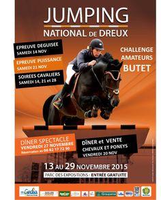 Jumping National de Dreux du 13 au 29 Novembre 2015  Parc des Expositions Plus d'infos sur notre site : http://www.dreux.com/agenda/jumping-national-de-dreux #Dreux #Jumping #Equitation #Cheval