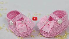 Hacer Video Girl botines del bebé - formal dentro de la almohadilla plantar de la preparación del bebé