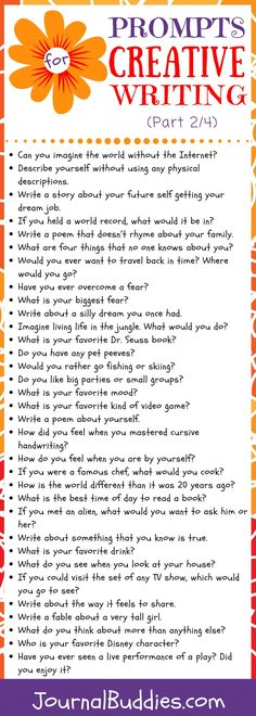 Fuel your students' curiosity with this series of all new creative writing prompts!