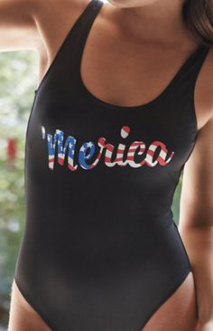 Stop by @pacsun to pick up LA Hearts 'Merica Scoop Back One Piece Swimsuit for this 4th of July weekend!