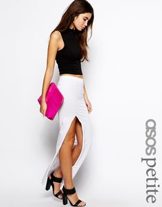 Exclusive Maxi #Skirt with Thigh Split by ASOS PETITE - Found on HeartThis.com @HeartThis | See item http://www.heartthis.com/product/475555460144219240?cid=pinterest