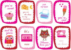 Oh so CUTE!!!!!  Adorable valentine cards!!!! Print 2 sets for a reinforcer activity : )  free!!!!!
