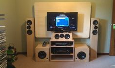 Built all this for my son.  XBOX 360 setup