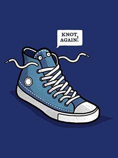 'Knot Again' Shoe & Laces Humor 18x24 - Vinyl Print Poster