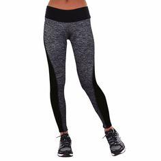 Tendencia Pantalones Ajustados Leggings Mediados de Cintura Elástico de Las Mujeres Que Adelgaza Para Running Sports Gym Pantalones de Yoga Ropa de Fitness Femenino