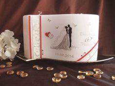 Hochzeitskerze Amore mit einem handgemalten Hochzeitspaar Tableware, Rustic Wedding Decorations, Candles, Wedding, Newlyweds, Gifts, Dinnerware, Tablewares, Dishes