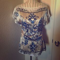 WHBM Silk Top No Trades No Transaction Outside PM Reasonable Offers Welcome Bundle Discount  Thanks for looking!!  White House Black Market Tops Blouses