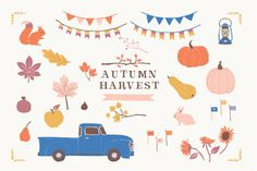 Autumn Harvest Clip Art Set by RhianAwni on Creative Market