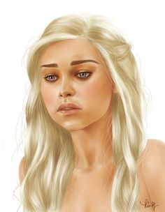Daenerys Targaryen by kimpertinent on DeviantArt Game Of Thrones Series, Game Of Thrones Art, Khaleesi, Daenerys Targaryen, Three Daughters, Queen, Character Inspiration, Deviantart, Beautiful