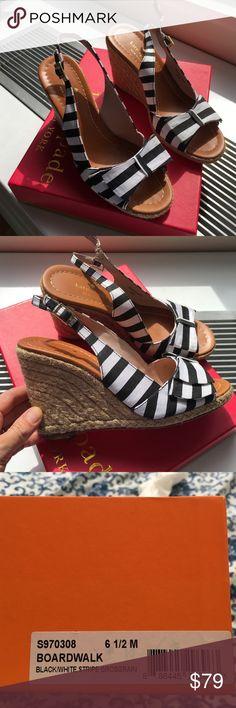 Kate Spade boardwalk sandal wedge 6 1/2 Worn once! kate spade Shoes Wedges