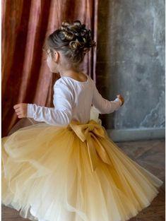 56b57810ba2 Kids Coppelia Safari tulle skirt with bow   yellow tulle skirt baby girl  wedding dress flowergirl skirt black friday sale cyber week sale