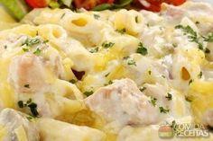 Receita de Penne com frango desfiado em receitas de massas, veja essa e outras receitas aqui!
