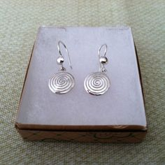 Silver Earrings w/ Swirls